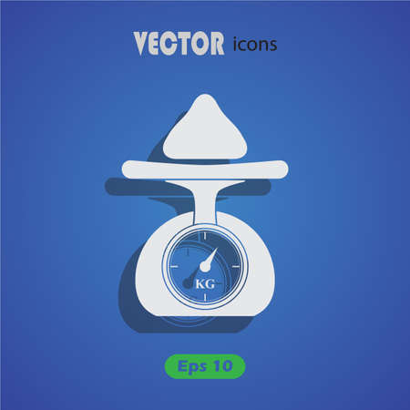scale up: Weighing scales icon Illustration