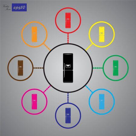 icebox: refrigerator icon