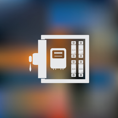 配電ボックス アイコン  イラスト・ベクター素材