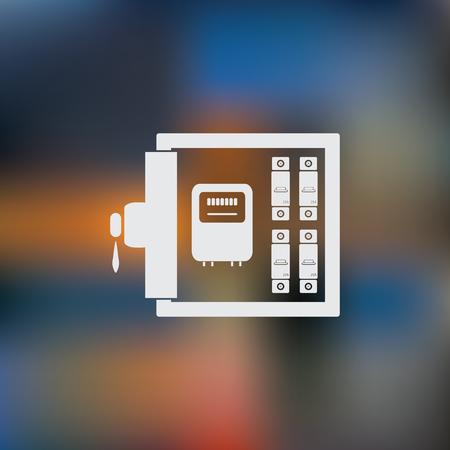 Electric distribution box icon