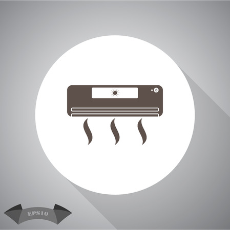 acclimatization: Air conditioner icon Illustration