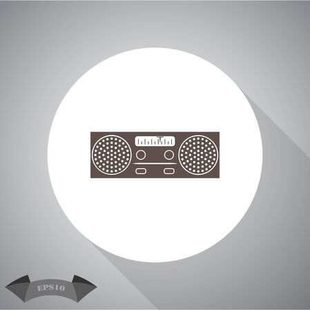old radio: Old radio icon Illustration