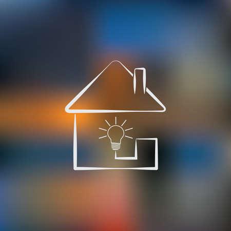 light bulb icon: Home light bulb icon