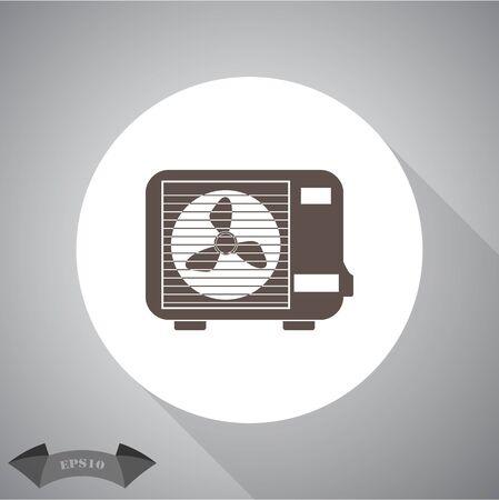 expel: Air conditioner  icon Illustration