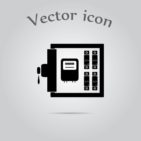distribution box: Electric distribution box  icon
