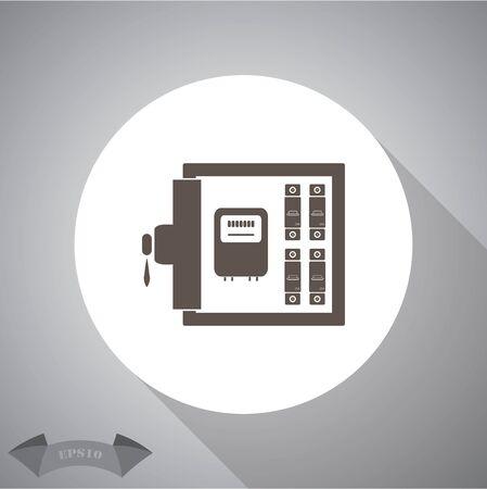 breaker: Electric distribution box icon
