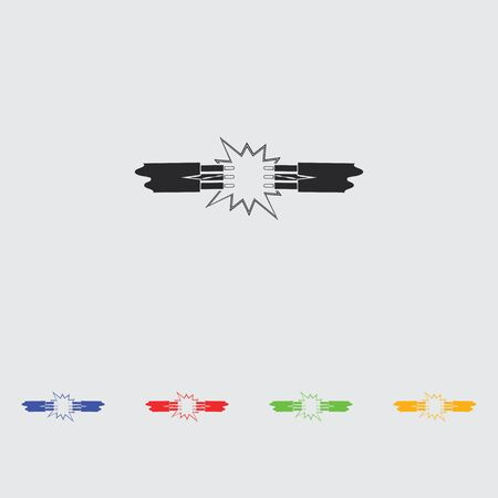 between: Short circuits between two wires icon
