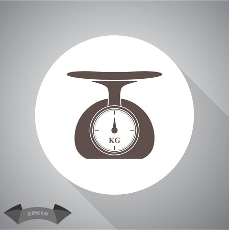 ounce: Weighing scales icon Illustration