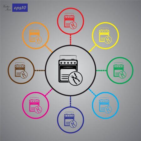 household appliances: Repair household appliances icon