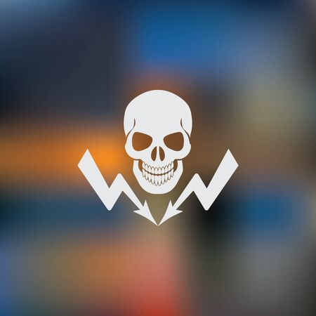 volt: danger high voltage  icon Illustration