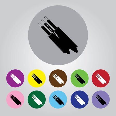 electric cable: Electric cable icon Illustration