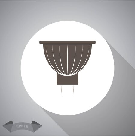 simple: Lamp simple  icon