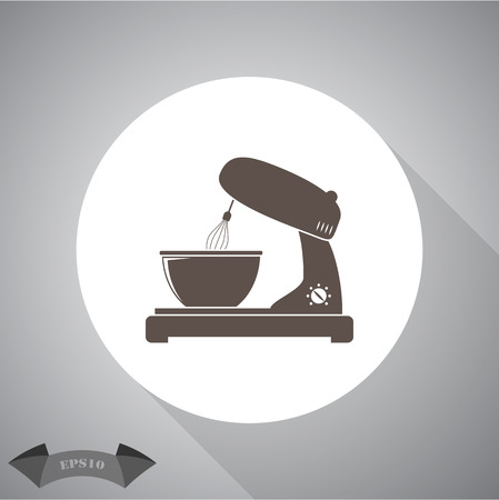 drink tools: kitchen mixer flat icon Illustration