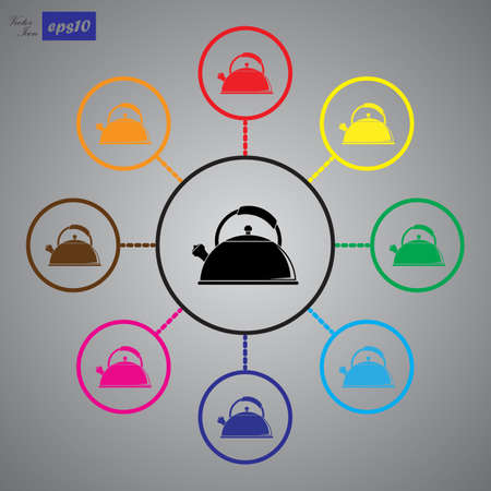 tea kettle: Tea kettle icon. Illustration
