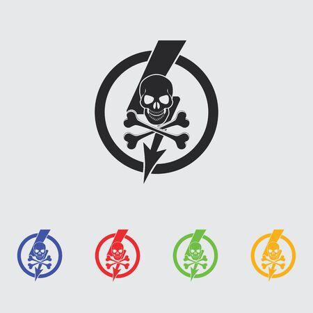 voltage danger icon: danger high voltage icon Illustration