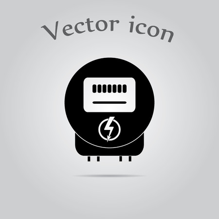 electric grid: Electricity power counter icon Illustration