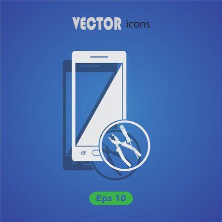 phone: repair phone  icon.