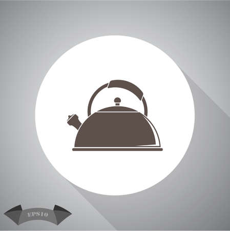tea kettle: Tea kettle   icon.