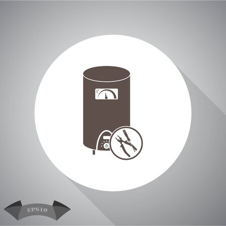 boiler: Repair  boiler  icon Illustration