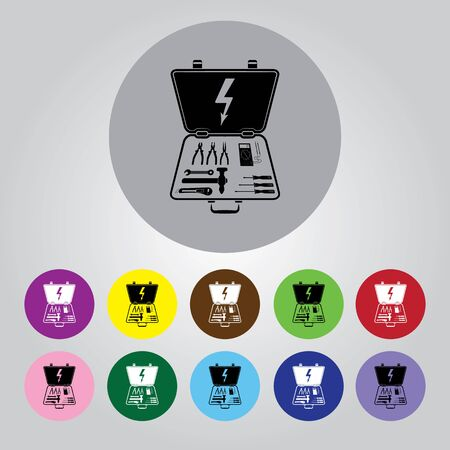tooling: Electrical Toolbox icon. Illustration