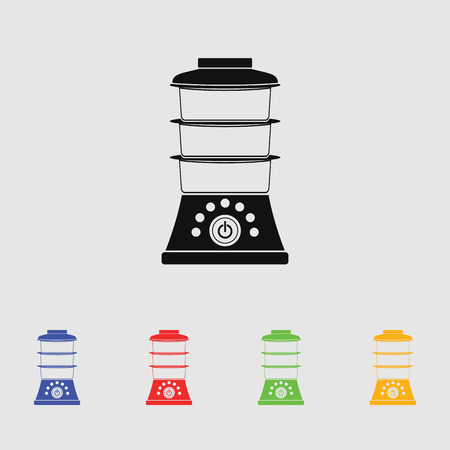 double boiler: double boiler vector icon