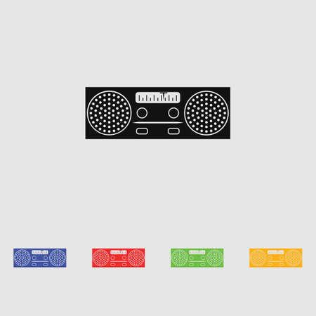 old radio: Old radio vector icon