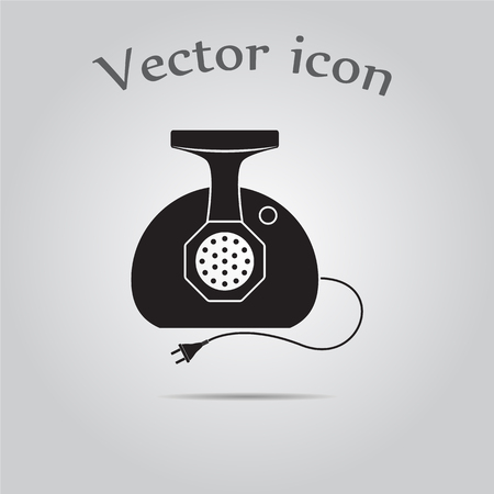 Meat grinder vector icon
