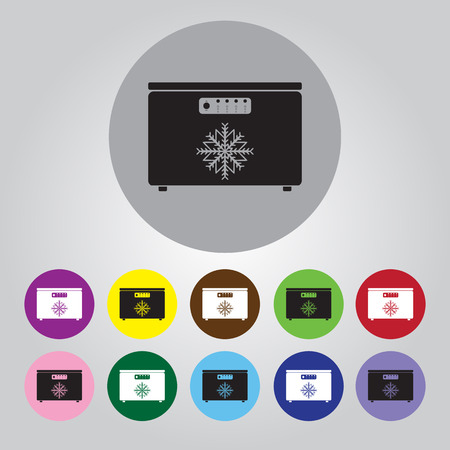 freezer: Freezer vector icon Illustration