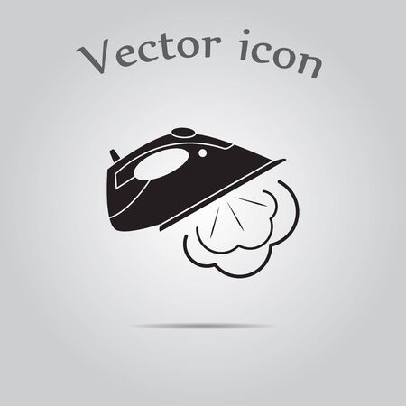 steam iron: Simple icon iron with steam.