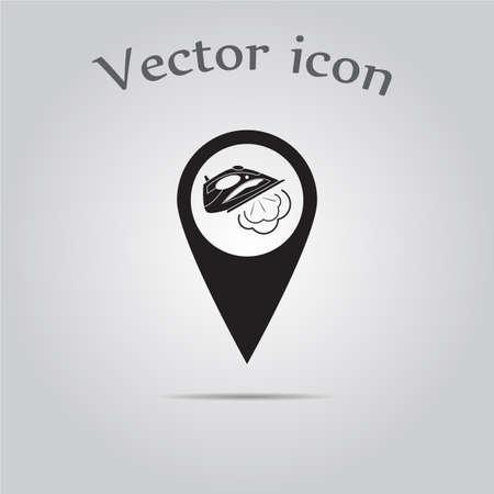 iron: Vector iron map pointer Illustration