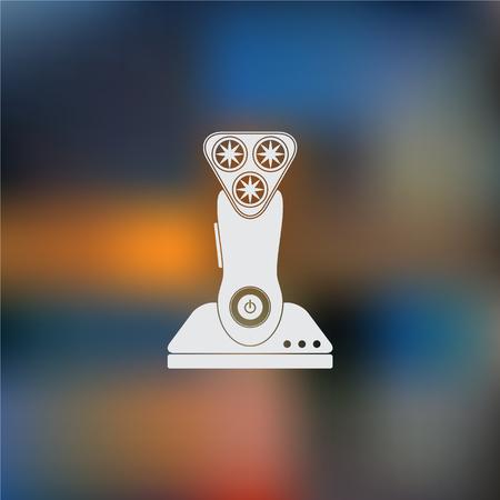 hair cutter: Electric shaving machine icon Illustration
