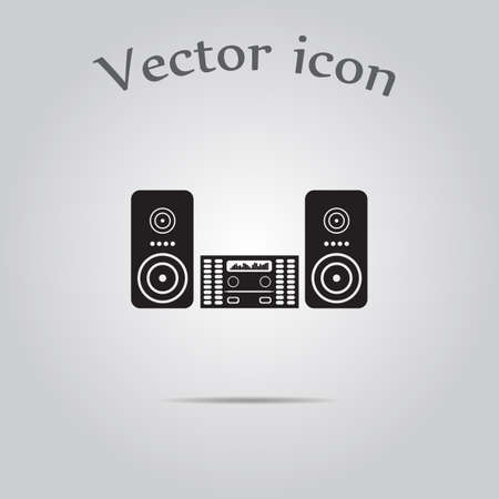 acoustic systems: Music center vector icon
