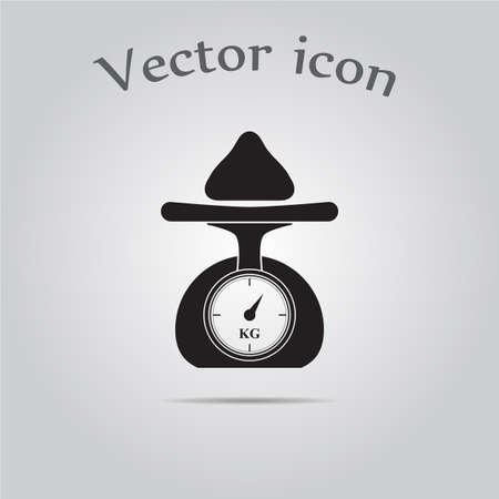 ounce: Weighing scales vector icon
