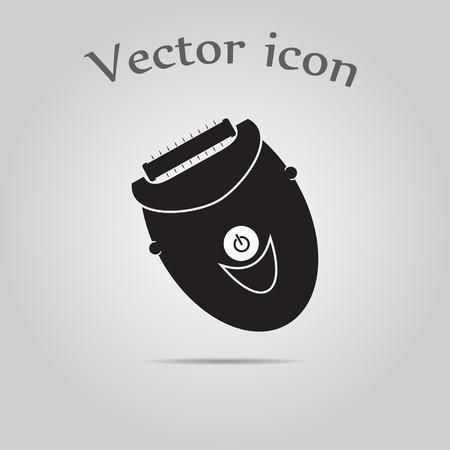 epilator: Women epilator icon Illustration
