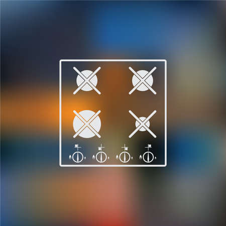 oven range: Gas stove vector icon
