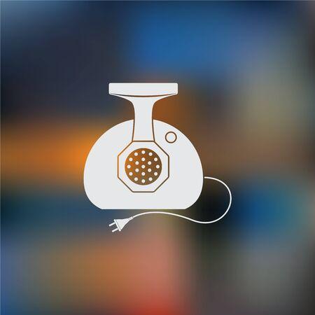 meat  grinder: Meat grinder vector icon
