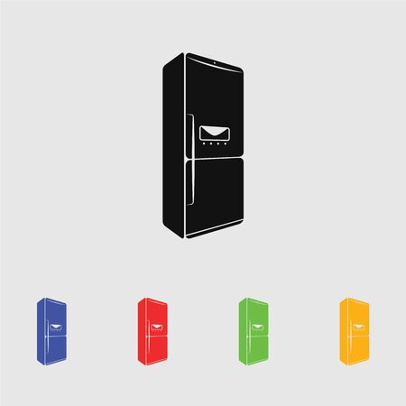 refrigerator vector icon Illustration