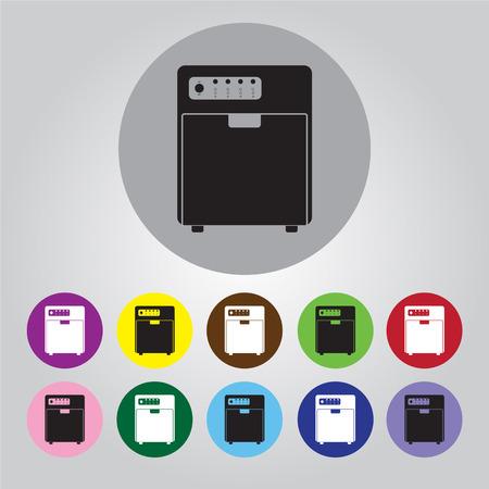dishwasher: Dishwasher vector icon