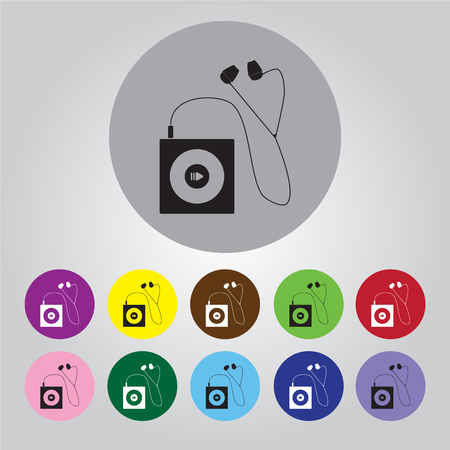 computer dancing: Portable music device icon