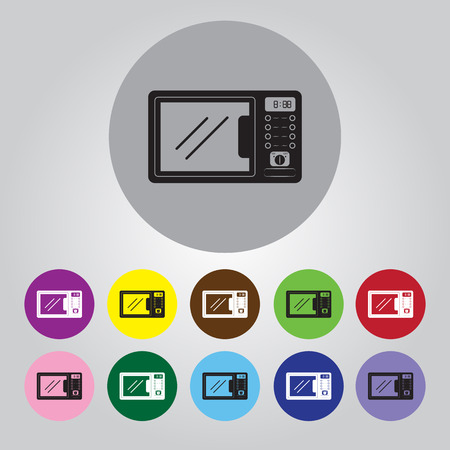 microwave ovens: Microwave Icon Vector Illustration