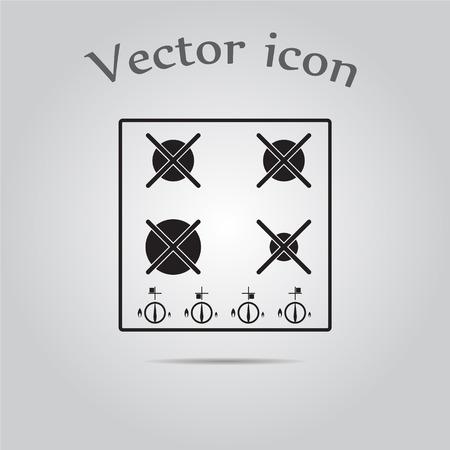 gas stove: Gas stove vector icon