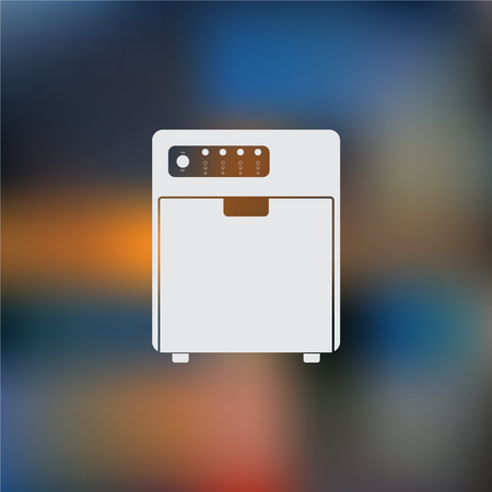 household chores: Dishwasher vector icon