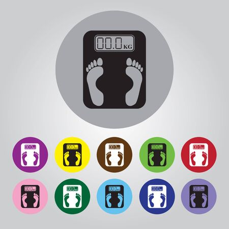 the electronic: Electronic weighing machine Icon