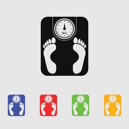 weighing machine: Weighing Machine Icon Illustration