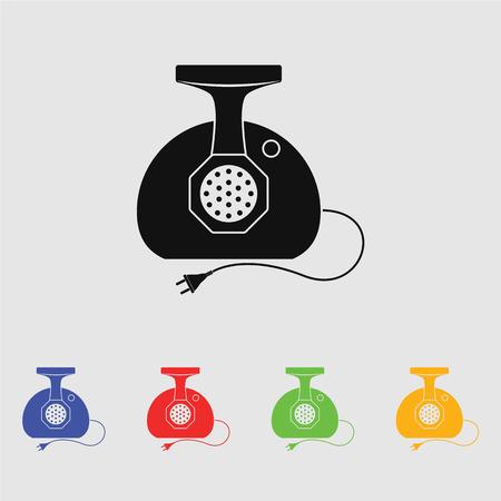 grinder: Meat grinder vector icon