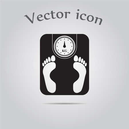 weighing: Weighing Machine Icon Illustration
