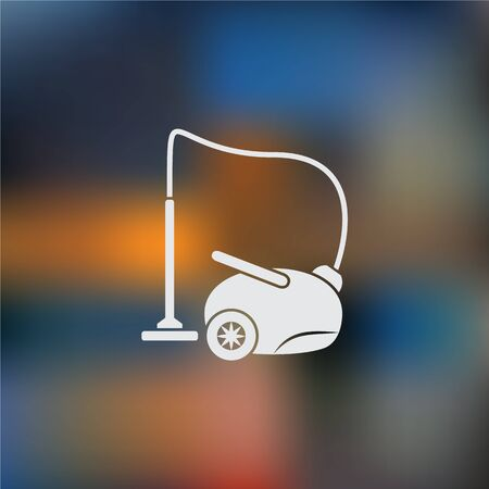 office cleanup: vacuum cleaner Icon Vector