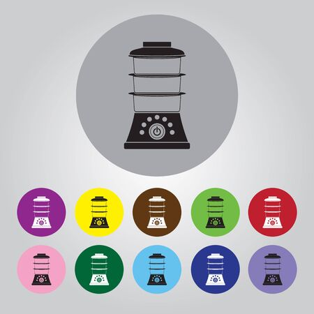 household goods: double boiler vector icon