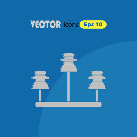 the insulator: Vector high voltage electrical insulator Illustration