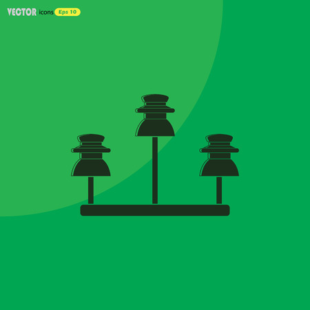 isolator: Vector high voltage electrical insulator Illustration